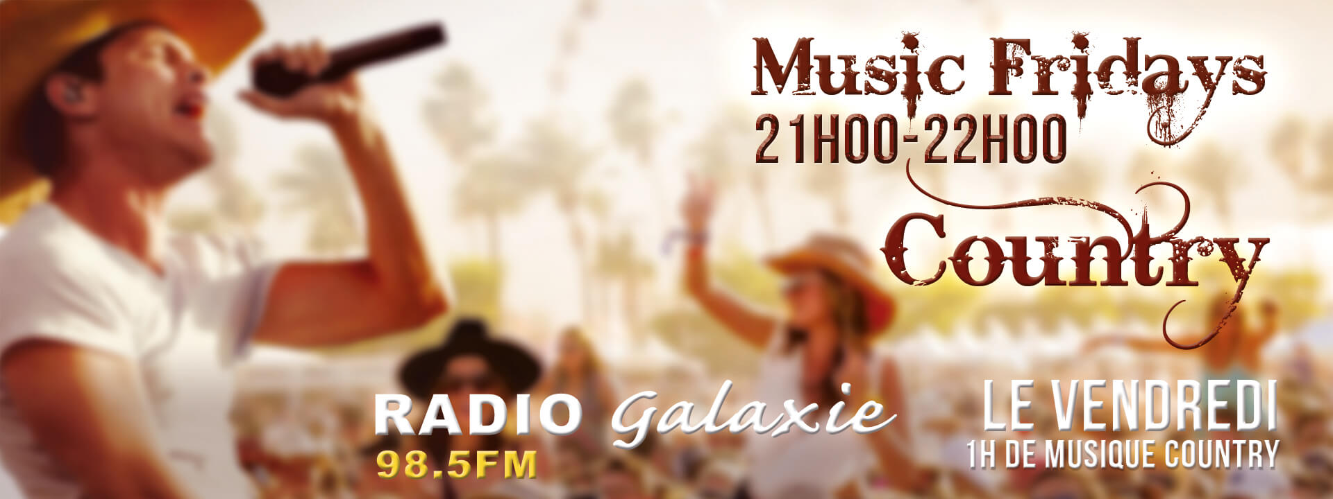 Radio Galaxie 98.5 FM - Musique - Country Club