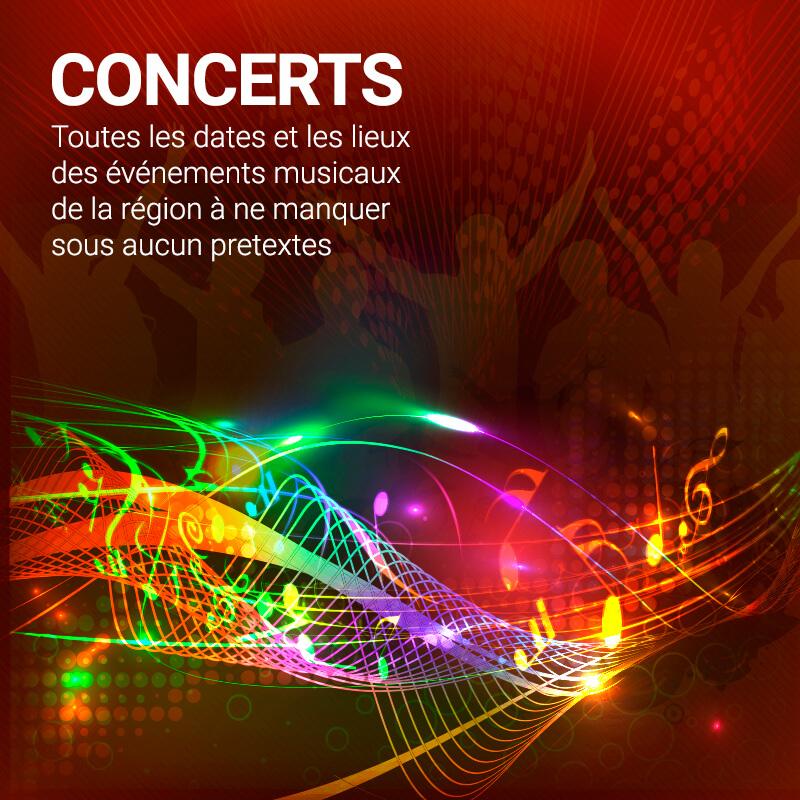Radio Galaxie 98.5 FM - Agenda des Concerts